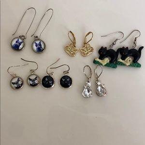 Kitty cat earrings